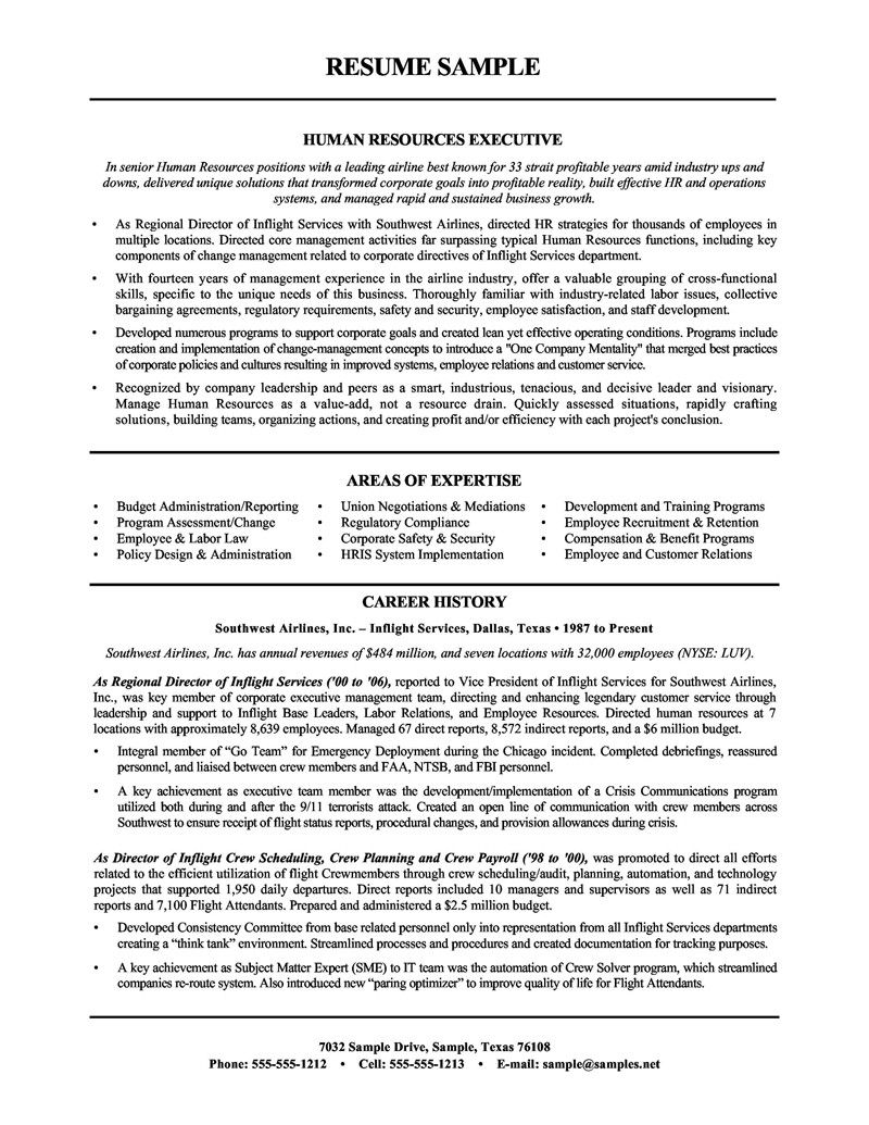 vice president of hr sample resume