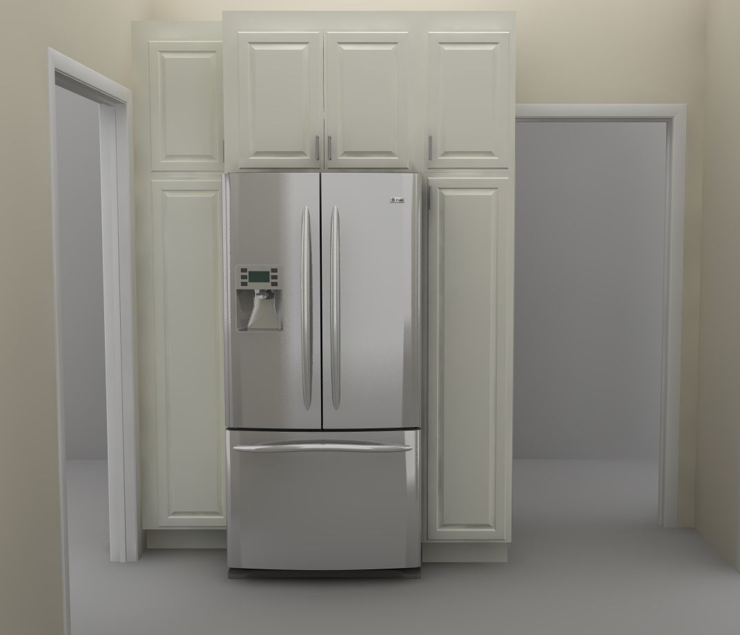 Kitchen Cabinets Around Refrigerator Kitchen Wall Pantry There Are Two Tall Pantry Cabinets