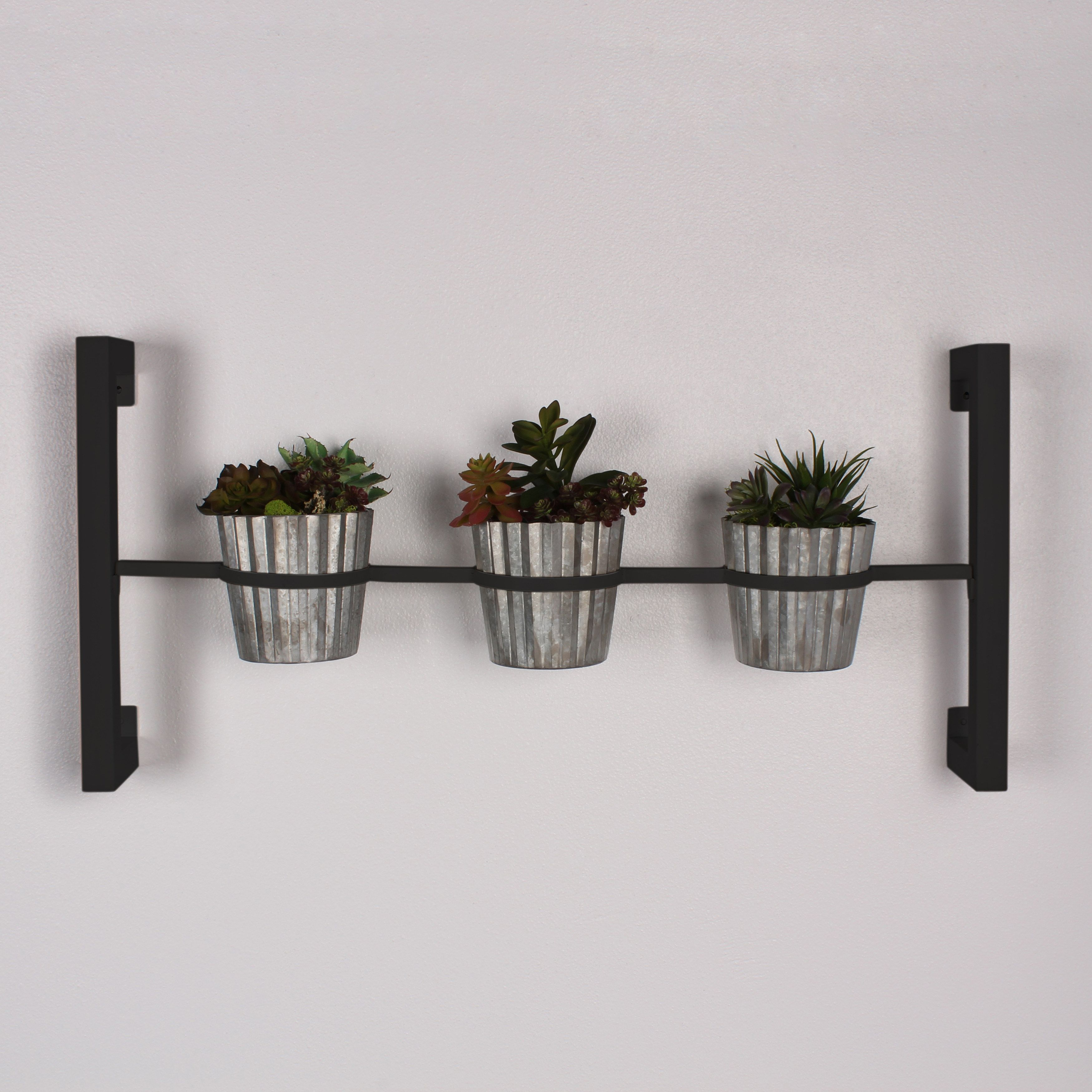Hanging Indoor Herb Garden Kate And Laurel Groves Indoor Herb Garden Black Metal