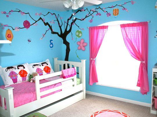 kinderzimmer streichen idee in blau und rosa Home Pinterest - idee kinderzimmer streichen
