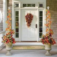 Falling Leaves Topiary in Urn Arrangement - traditional ...