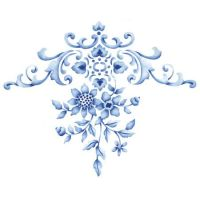 Floral Embroidery Centerpiece Stencil | Floral embroidery ...