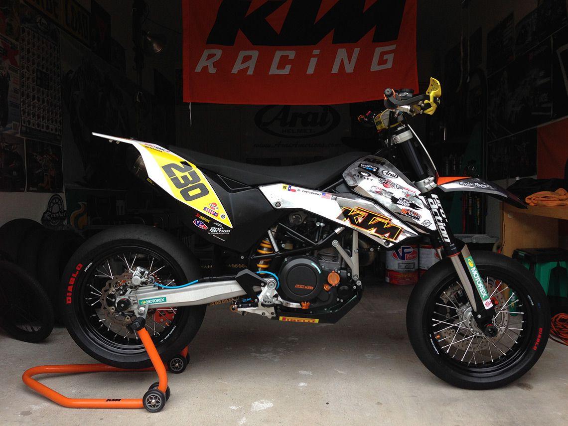 Custom tuned ktm 690 smc michael capuchino ktm 690dirt bikesmotocrosscustom bikescars motorcyclesarea