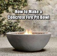 How to Make a Concrete Fire Pit Bowl   Concrete fire pits ...
