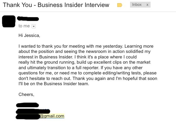 The No 1 Mistake People I Interview Are Making These Days - thank you email