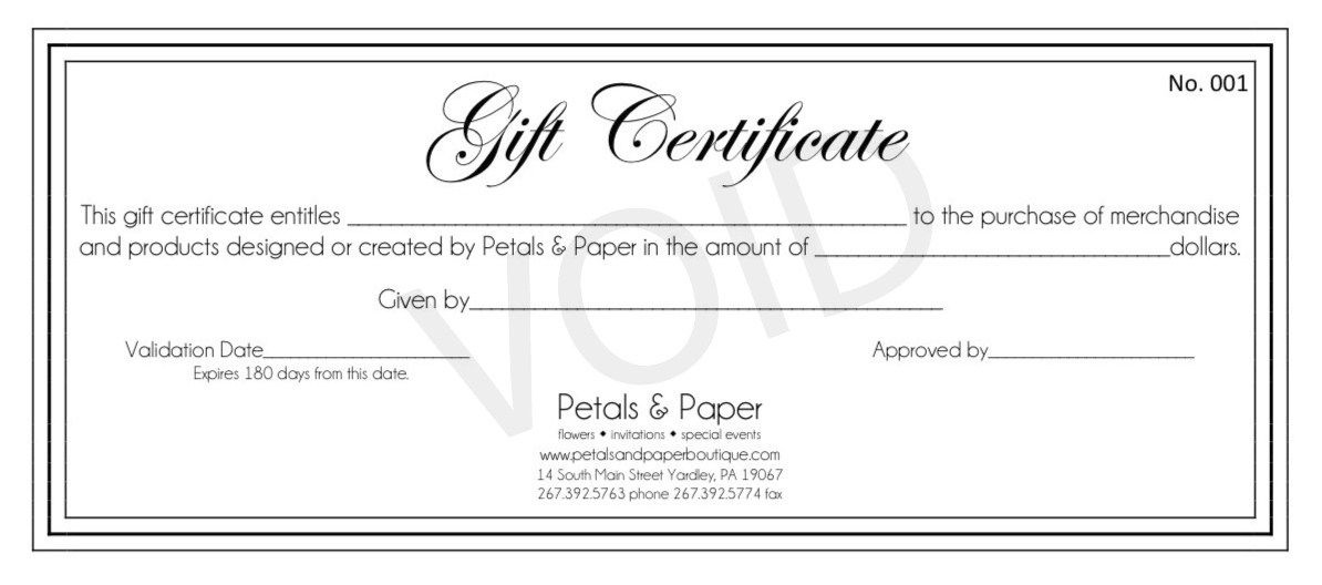 free printable gift certificate templates Gift Certificates Make - printable gift certificates free template