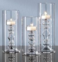 Tall Glass Tealight Candle Holders in the Shape of ...