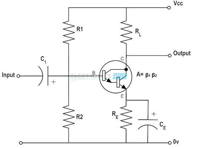 npn transistor current amplifier circuit