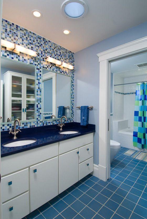 Cute Blue Bathroom Design Ideas bathroom ideas Pinterest - blue bathroom ideas
