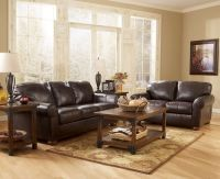 brown leather living room | Dark Brown Leather Sofa in ...
