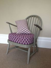 Vintage Ercol Chair Hand Painted With Newly Upholstered ...