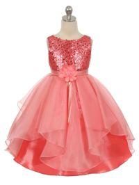 Coral And Aqua Flower Girl Dresses - Bridesmaid Dresses