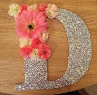 Decorated Wooden Letter with Flowers | baby's room decor ...