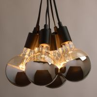 Chrome-Tip 6-Bulb Cluster Pendant Lamp | Light bulb, Bulbs ...
