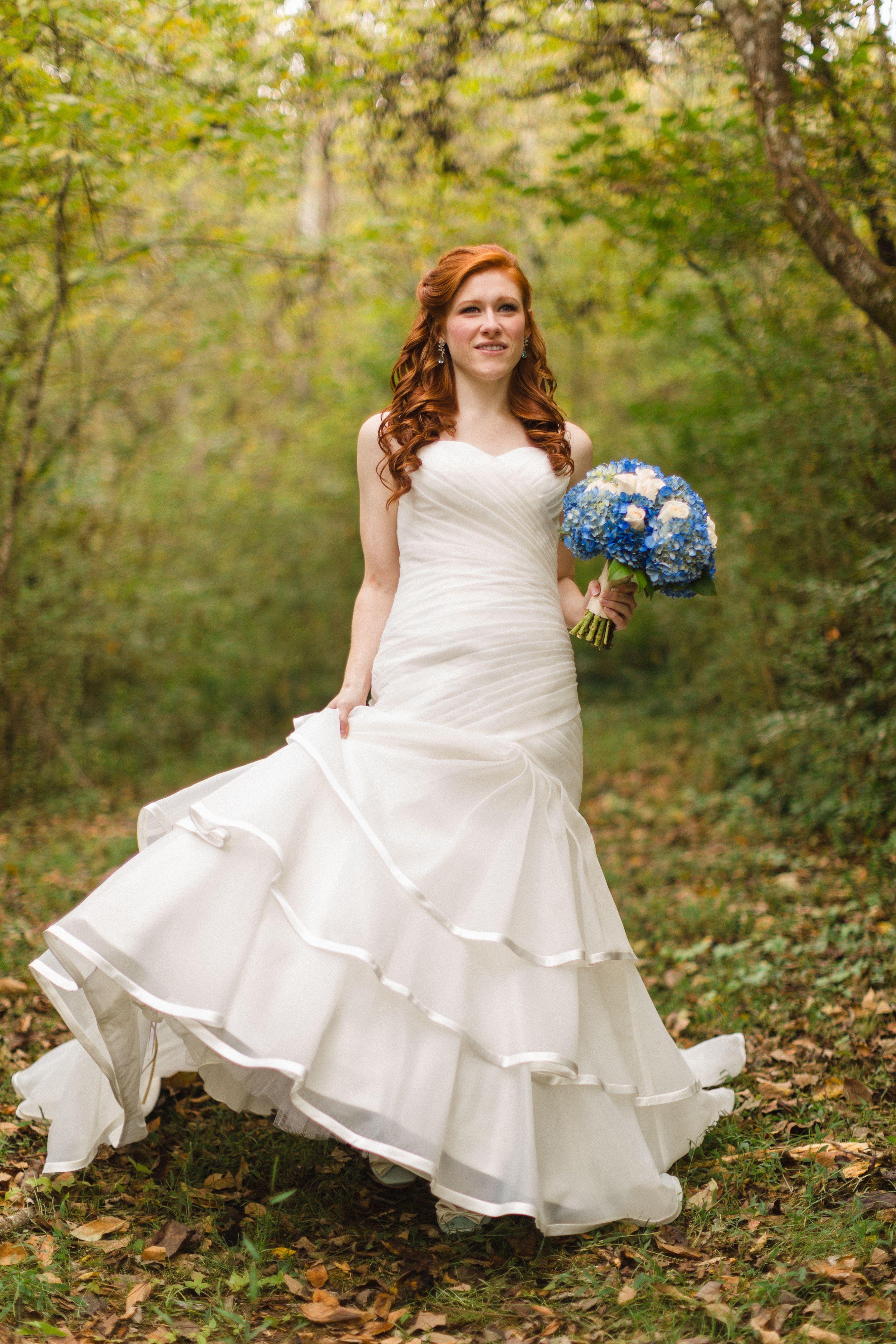 october wedding dresses Bride on her October wedding day in an ivory mermaid dress Wedding dress Southern wedding