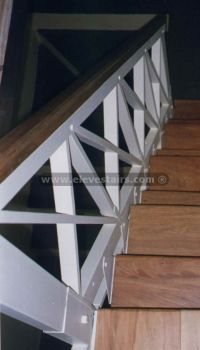 stair railing | Country Railing, Crossed Railings ...