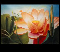 Abstract Flower Painting Lotus Flower Painting Asian Wall ...