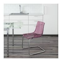 TOBIAS Chair, lilac, chrome plated | IKEA Shopping List ...
