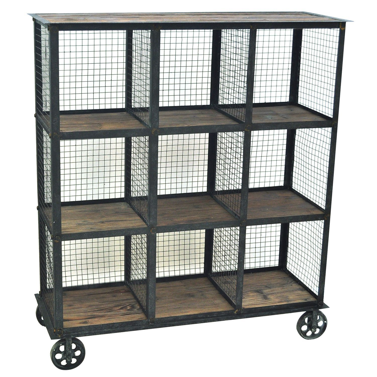 Aluminum Bookcase Perfect For A Library This Industrial Metal And Wood