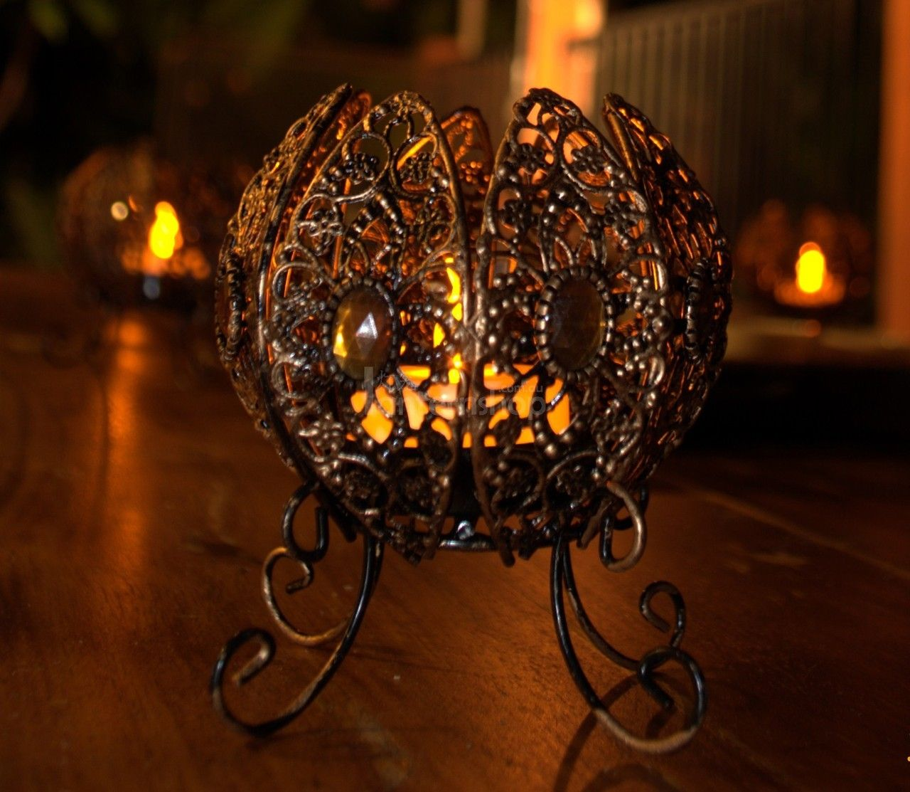 Moroccan table lantern would look amazing for a classy halloween decoration even
