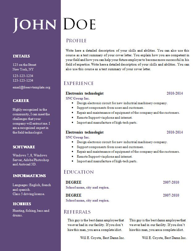 How To Make Money Teaching Online With Your Camcorder And PC Resume  Template Free Download Mac Teaching Introduction Conclusion Personal Essay  Creative Resume Templates Free Download
