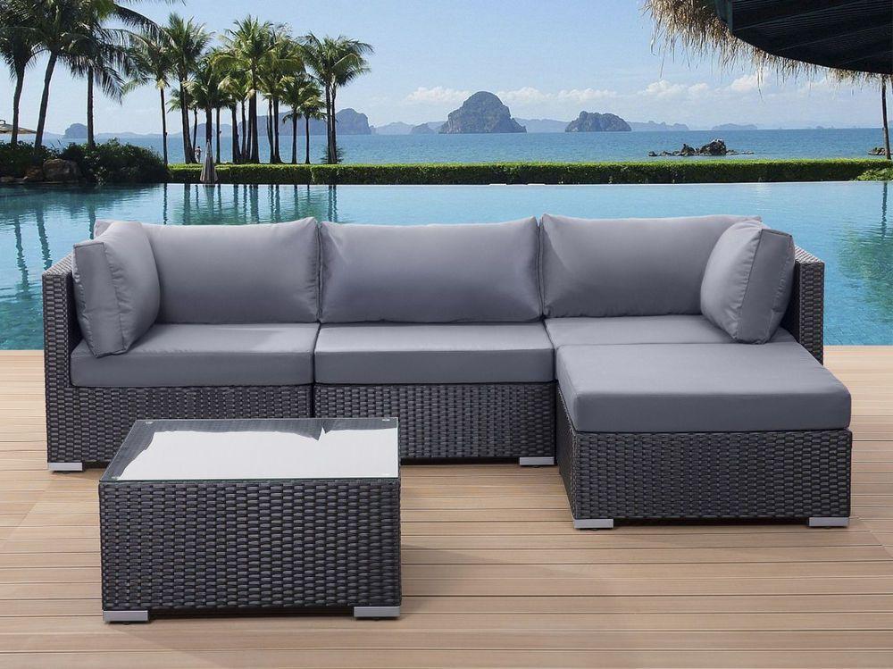 Gartenmöbel, Rattanmöbel, Sitzgruppe, Sitzgarnitur, Gartenmöbelset   Gartenmobel  Polyrattan Lounge Gestaltung