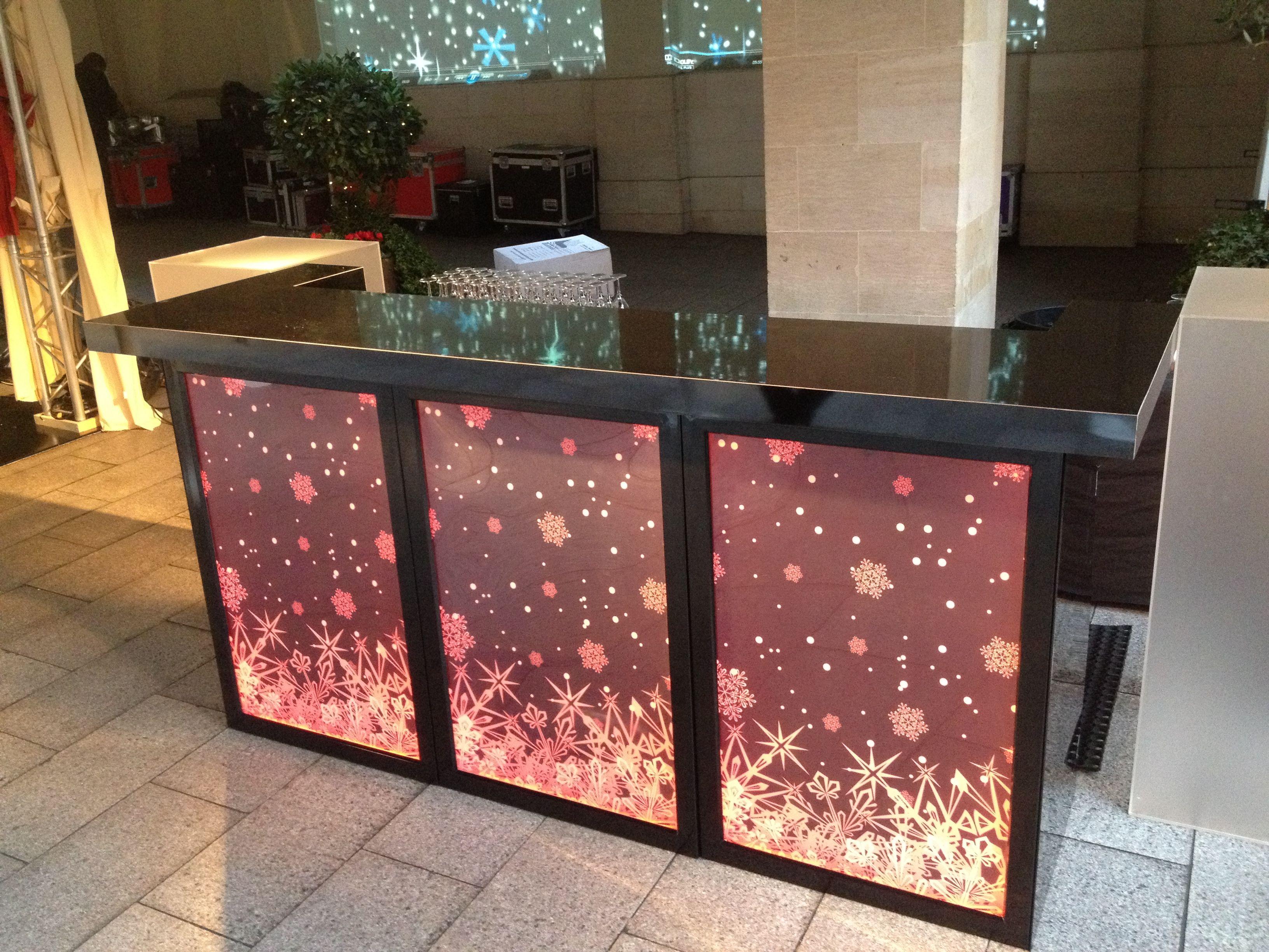 Mobile Bar Black Gloss Finish Rgb Led Light Boxes