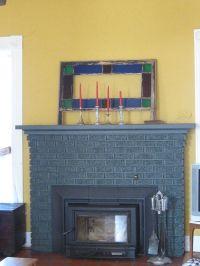 painted grey fireplace   Alviso Residence   Pinterest ...