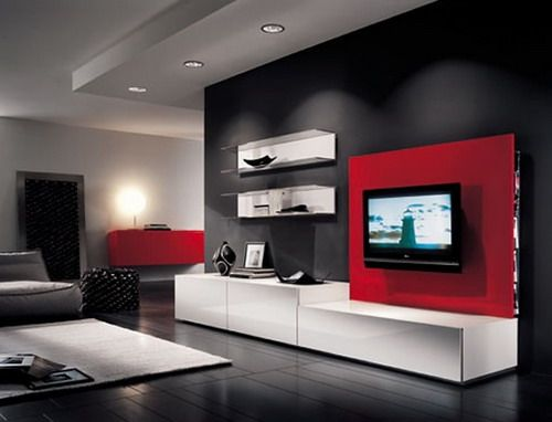 modern furniture living room design with lcd tv Architecture - modern furniture living room