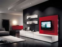 modern furniture living room design with lcd tv ...