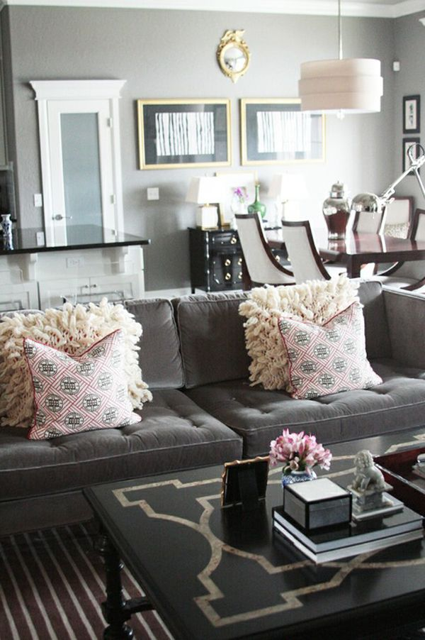 gray living room, charcoal couch velvet+sofa+couch+sette+ - gray and gold living room