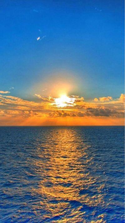 Nature Fantasy Sunrise Over Ocean At Dawn #iPhone #6 #plus #wallpaper | iPhone 6 Wallpapers ...