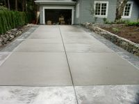 broom finish concrete with stamped outline | STAMPED ...