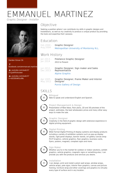 Graphic Design Resume Tips Freelance Graphic Designer Resume Example | Cv | Pinterest