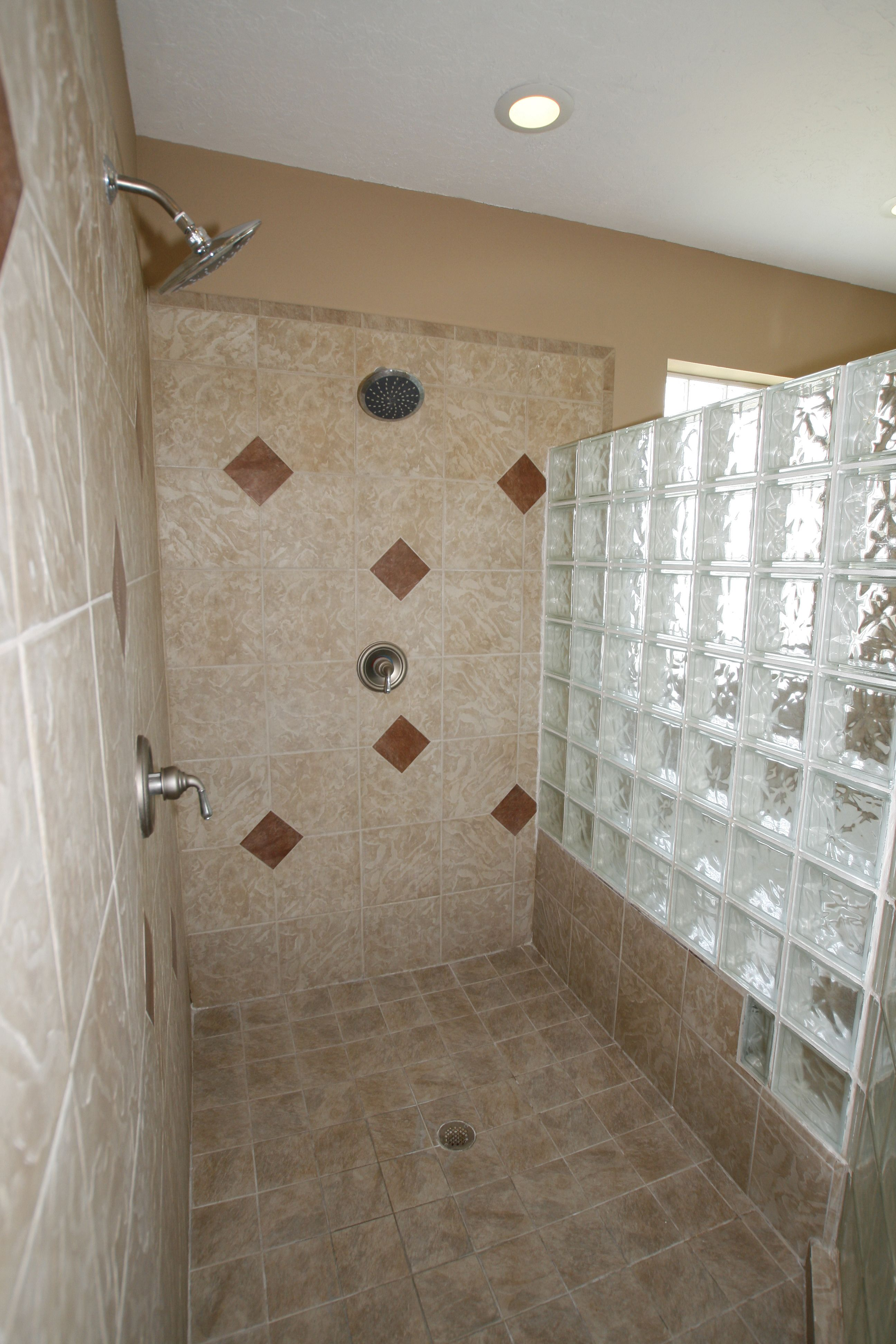 Wet Room Shower Ideas   Astounding White Wet Walk In Shower Ideas With  Fascinating Glass Block. Download Part 92