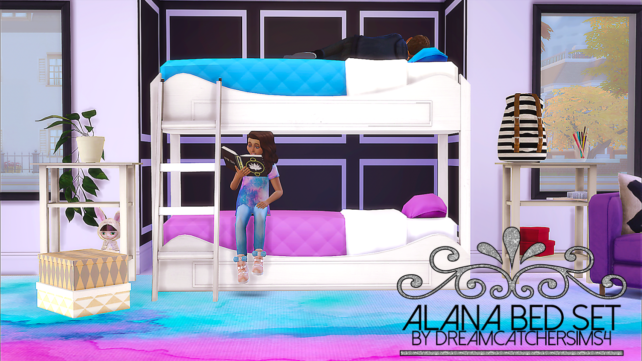 The sims 4 dreamcatchersims4 alana bed set bunk bed frame no footprint