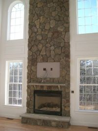 fireplace to ceiling | Stone floor-to-ceiling fireplace (2 ...