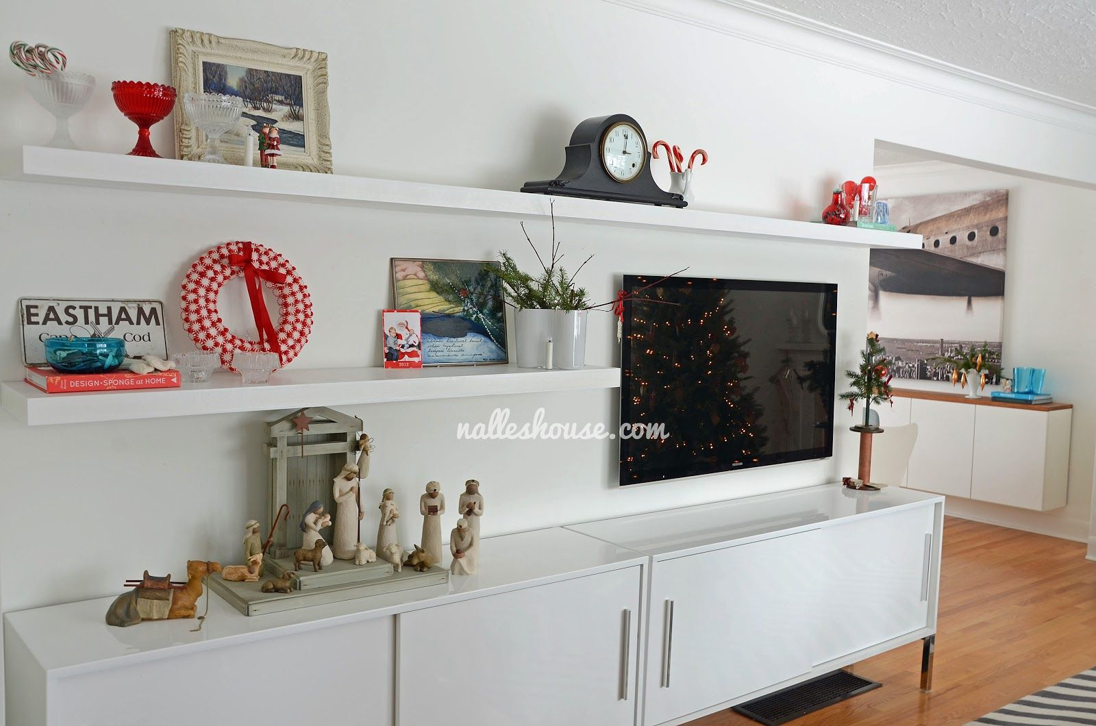 Nalle s house diy entertainment unit ikea units and floating shelves