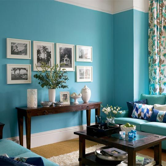 Color Combo Teal, White, and Navy Teal, Teal living rooms and - teal living room ideas