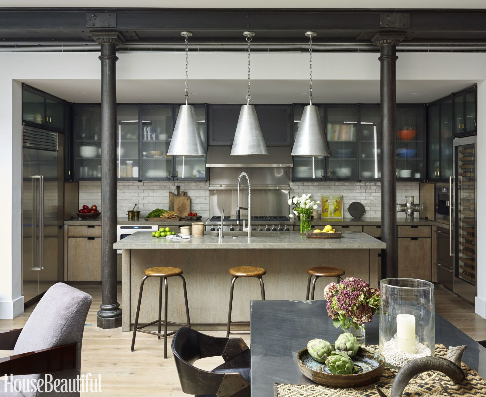 Küche Industrial Look This Industrial Style Kitchen Masters Mixed Materials