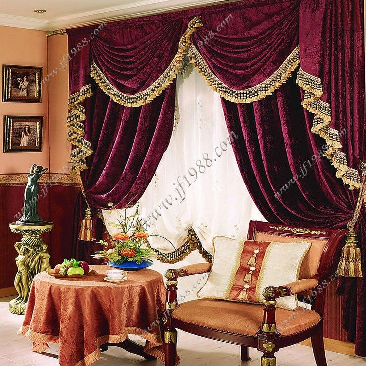 Cheap Curtains on Sale at Bargain Price, Buy Quality curtain clips - luxury curtains for living room