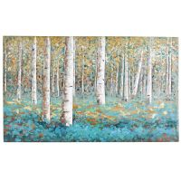 Luxe Teal Birch Tree Art | Tree art, Birch and Teal