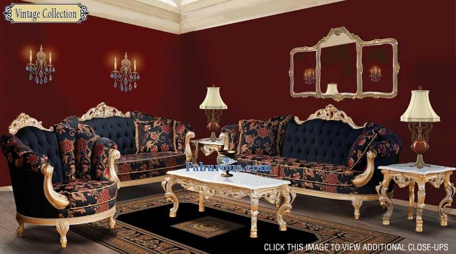 Victorian Style Living Room Furniture Dark Red French Baroque - victorian living room furniture