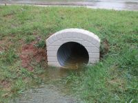 Outlet end Culvert pipe cover, Stallings NC. High wind and ...
