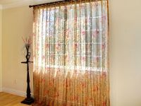 Celadon floral sheer curtain panel | Sheer Curtain Panels ...