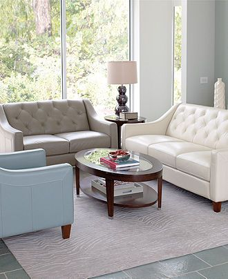 Claudia Living Room Furniture Sets \ Pieces - furniture - Macyu0027s - two piece living room set