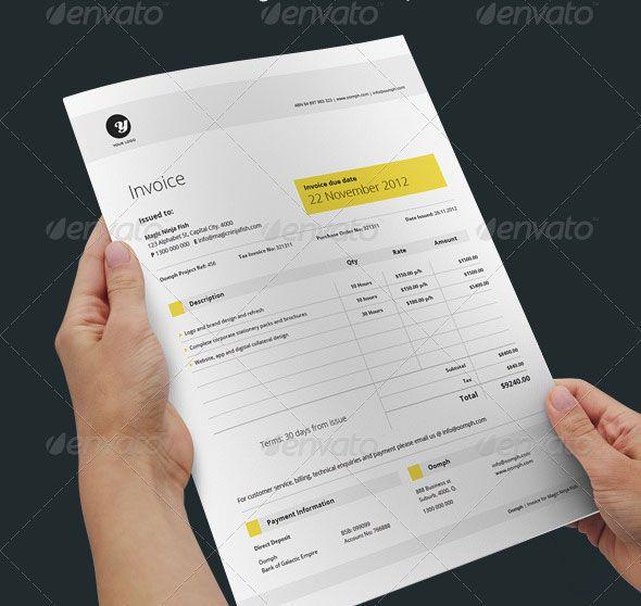 20 Creative Invoice \ Proposal Template Designs Template - graphic design proposal template