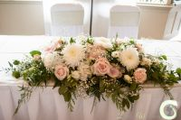 Blush pink and ivory ceremony table arrangement at The ...