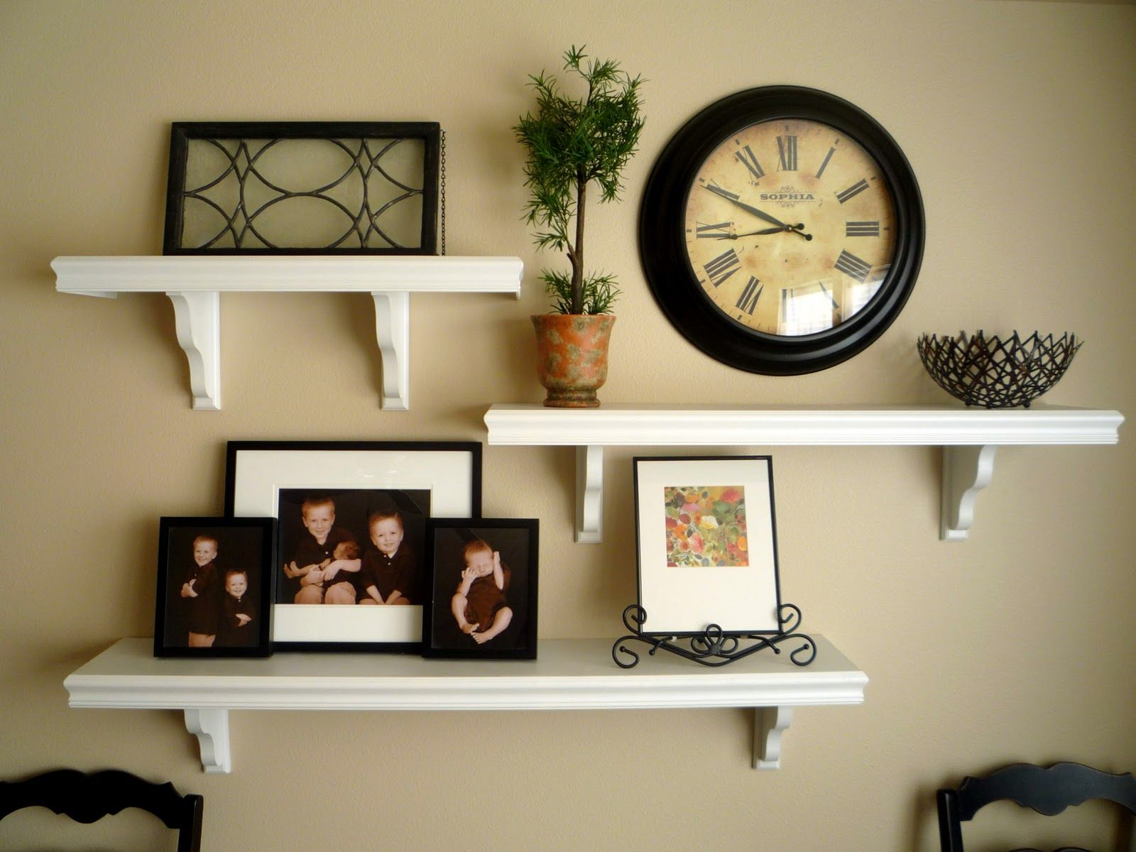 Where To Hang Wall Clock In Living Room Picture And Shelves On Wall Together It All Started