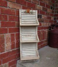 shutters ideas | Vintage Shutter Shelf! | Shutter Ideas ...